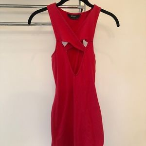 Nasty Gal Cut Out Red Body Con Dress